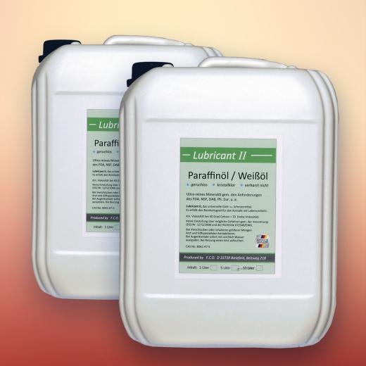 Paraffinöl, medizinische Qualität, hochviskos (2x 5 Liter)