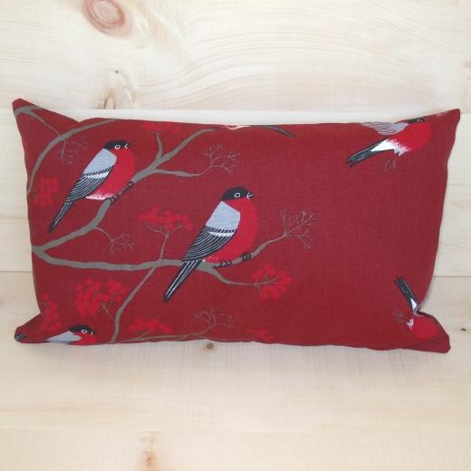 Zirbenkissen, 30 x 50 cm (Farbe: Red Robin)