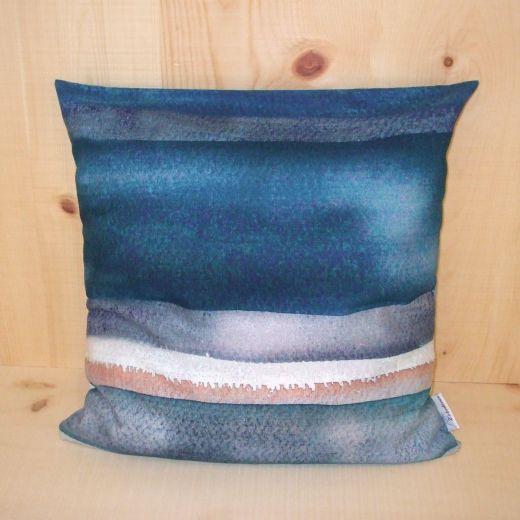 Zirbenkissen, 40 x 40 cm (Farbe: Aqua blue)
