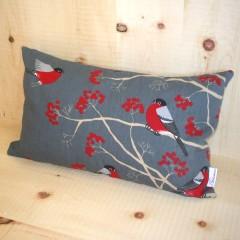 Zirbenkissen, 30 x 50 cm (Farbe: Red Robin - grau)